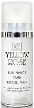 Düfte, Parfümerie und Kosmetik Intensiv feuchtigkeitsspendende, aufhellende und beruhigende Anti-Aging Gesichtsgel-Maske mit Perlenextrakt und Diamantenpulver - Yellow Rose Luminance Pearl Face Gel Mask