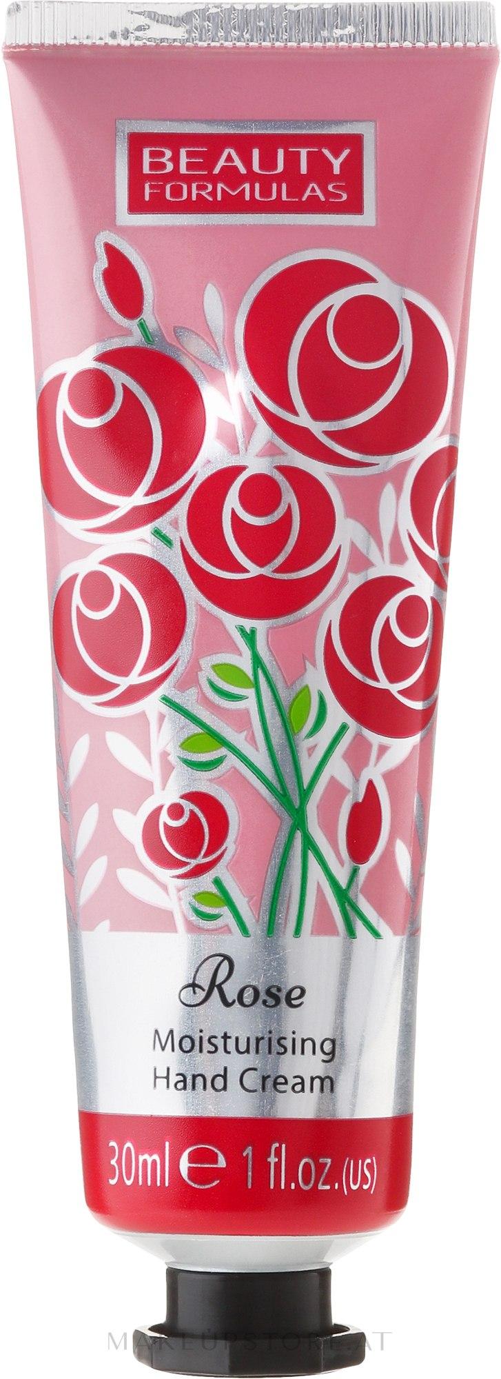 Feuchtigkeitsspendende Handcreme mit Rosenduft - Beauty Formulas Rose Moisturising Hand Cream — Bild 30 ml