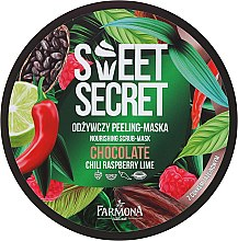 Düfte, Parfümerie und Kosmetik Pflegende Körperpeeling-Maske mit Chili, Himbeere, Limette und Kakaobohnenextrakt - Farmona Sweet Secret Chocolate Peeling-mask
