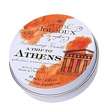 Düfte, Parfümerie und Kosmetik Massagekerze mit Moschus- und Patschuli-Duft - Petits JouJoux Mini A Trip To Athens