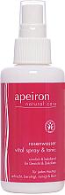 Düfte, Parfümerie und Kosmetik Pflegendes Rosenwasserspray für Gesicht und Dekolleté - Apeiron Rose Water Vital-Spray