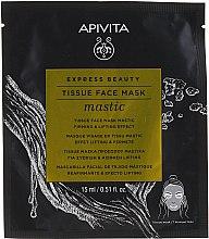 Düfte, Parfümerie und Kosmetik Straffende Tuchmaske mit Lifting-Effekt - Apivita Express Beauty Tissue Face Mask Mastic Firming & Lifting Effect