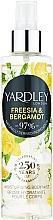 Düfte, Parfümerie und Kosmetik Yardley Freesia & Bergamot - Feuchtigkeitsspendender parfümierter Körpernebel