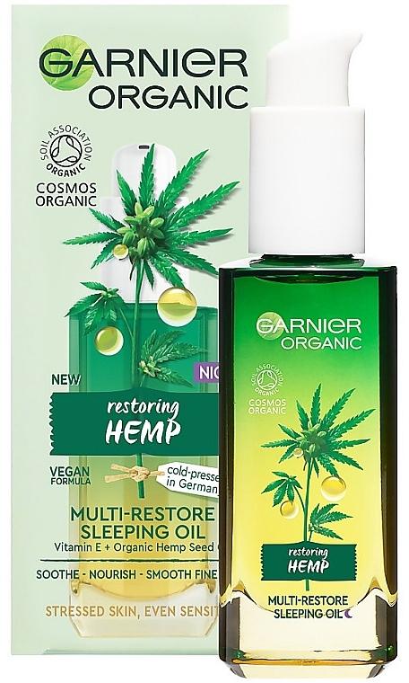 Regenerierendes Bio-Gesichtsöl für die Nacht mit Hanfsamenöl und Vitamin E - Garnier Bio Multi-Repair Sleeping Oil
