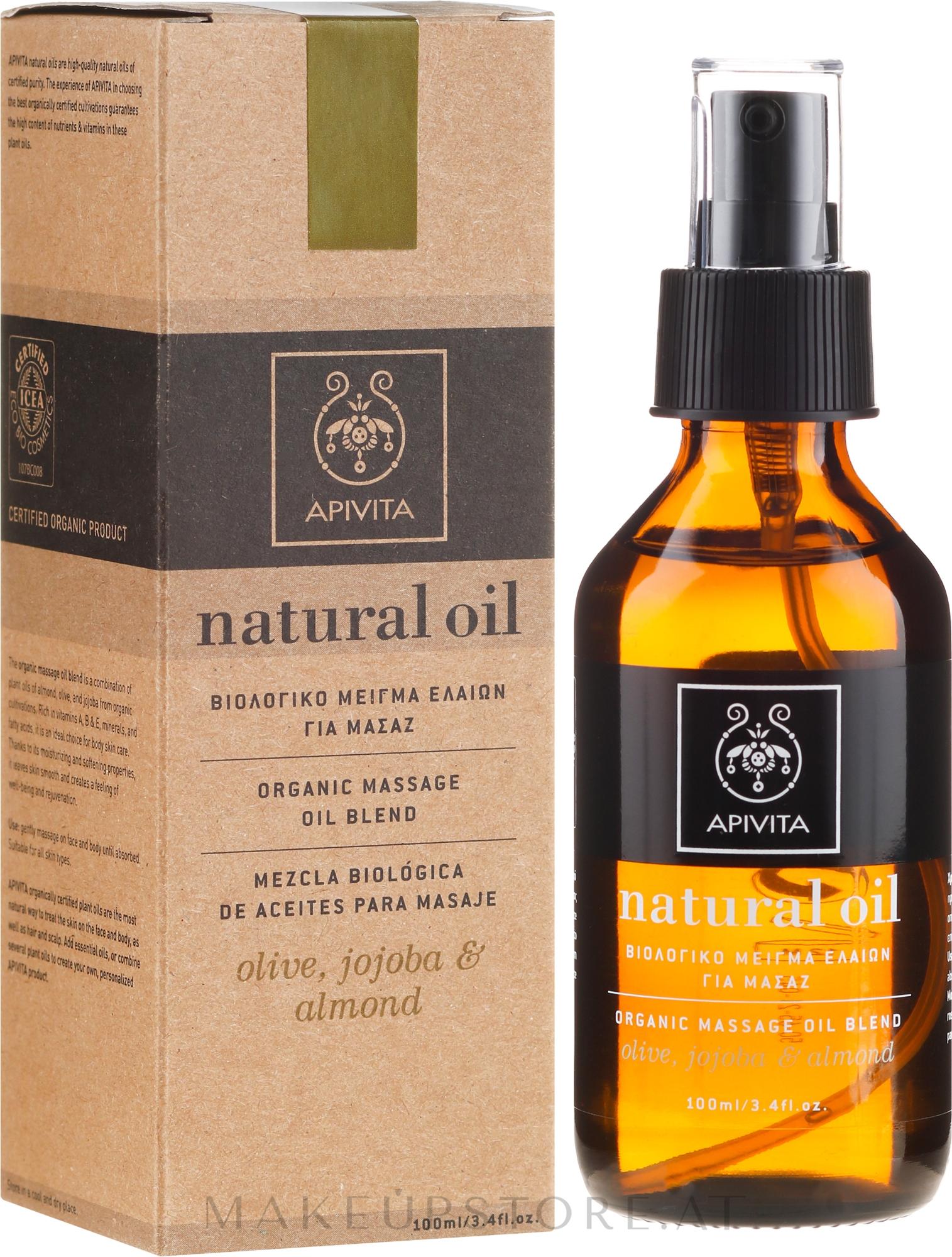 Bio-Massageölmischung - Apivita Organic oil blend — Bild 100 ml
