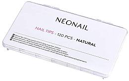 Düfte, Parfümerie und Kosmetik Naturfarbene Nageltips mit langer Klebefläche 120 St. - NeoNail Professional Nail Tips Natural
