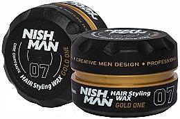 Düfte, Parfümerie und Kosmetik  Haarstylingwachs mit frischem Herrenduft - Nishman Hair Styling Wax 07 Gold One