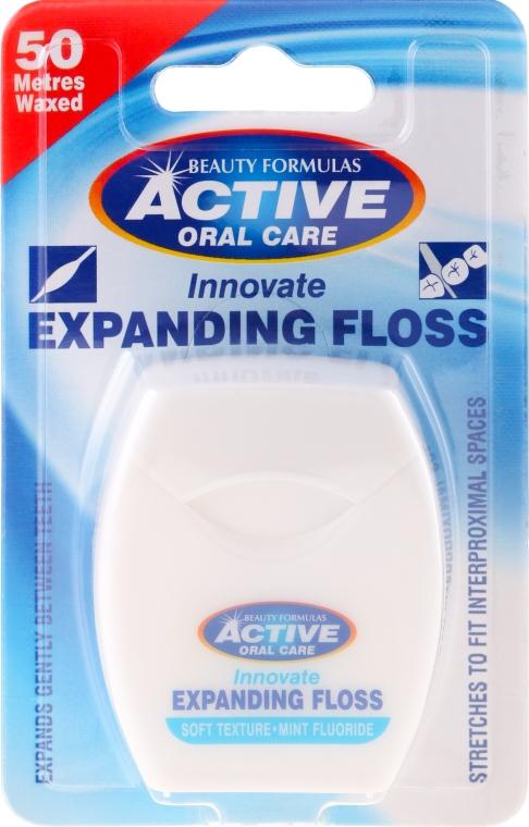Zahnseide mit Minzgeschmack und Fluoride 50 m - Beauty Formulas Active Oral Care Expanding Floss Mint With Fluor 50m