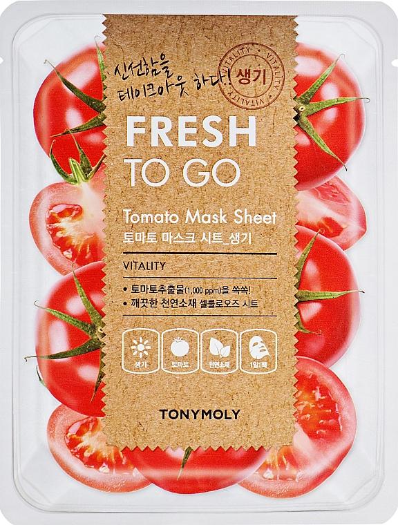 Erfrischende und vitalisierende Tuchmaske für das Gesicht mit Tomaten - Tony Moly Fresh To Go Mask Sheet Tomato