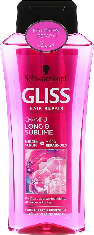 Shampoo für langes, geschädigtes Haar & fettiger Ansatz - Schwarzkopf Gliss Kur Long & Sublime Shampoo