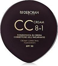 Düfte, Parfümerie und Kosmetik 8in1 Kompakte Creme-Foundation & Concealer - Deborah 8-in-1 CC Cream Foundation Cream and Concealer
