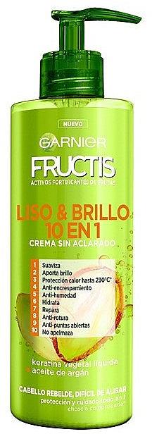 Haarcreme für mehr Glanz mit Arganöl und flüssigem pflanzlichem Keratin - Garnier Fructis Smooth & Shine Cream