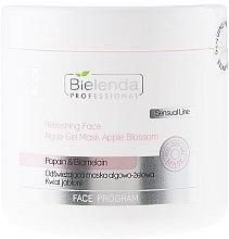 Düfte, Parfümerie und Kosmetik Erfrischende Alginat Gelmaske für Gesicht mit Apfelblüte - Bielenda Professional Face Program Refreshing Face Algae Gel Mask Apple Blossom