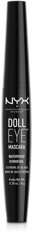 Wasserfeste Wimperntusche - NYX Professional Makeup Doll Eye Mascara Waterproof — Bild N1