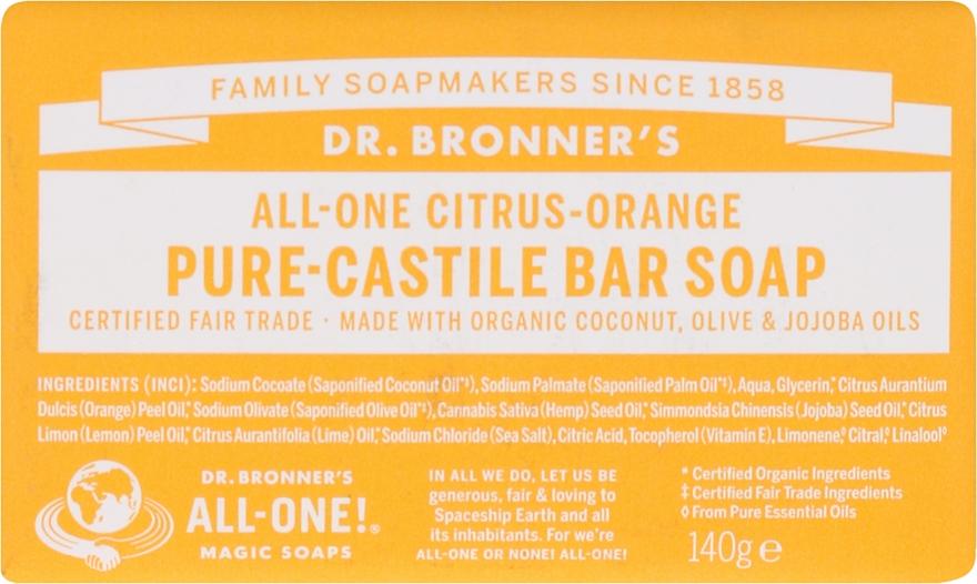 Seife Zitrus und Orange - Dr. Bronner's Pure Castile Bar Soap Citrus & Orange