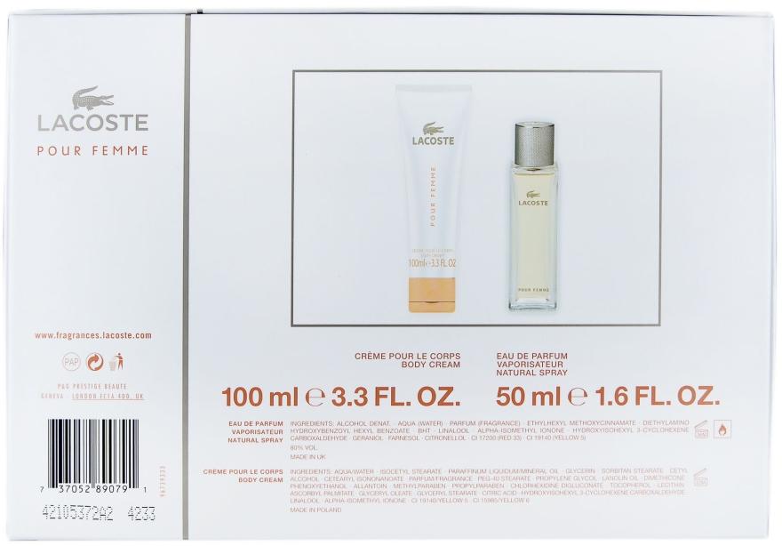 Lacoste Lacoste Pour Femme - Duftset (Eau de Parfum 50ml + Körpercreme 100ml) — Bild N4