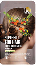 Düfte, Parfümerie und Kosmetik Pflegende Haarmaske mit Olivenextrakt - Superfood For Skin Hair Mask With Olive Cloth