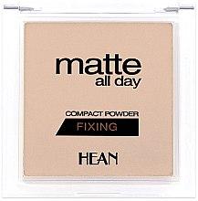 Düfte, Parfümerie und Kosmetik Fixierender Kompaktpuder - Hean Matte All Day Compact Powder