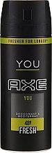 Düfte, Parfümerie und Kosmetik Erfrischendes Deospray - Axe You Fresh Deodorant Spray