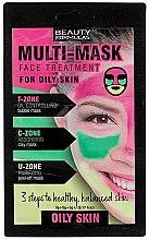 Düfte, Parfümerie und Kosmetik Gesichtsmaske für fettige Haut - Beauty Formulas 3-Step Multi Mask Face Treatment Oily Skin