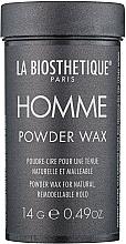 Düfte, Parfümerie und Kosmetik Haarpuder-Wachs für Männer Natürlicher Halt mit mattem Finish - La Biosthetique Homme Powder Wax