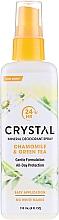Düfte, Parfümerie und Kosmetik Körperspray-Deodorant mit Kamillen- und Grünteeduft - Crystal Essence Deodorant Spray