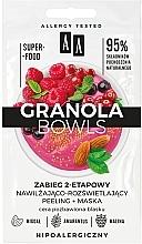 Düfte, Parfümerie und Kosmetik Zweistufige Peelingmaske für stumpfe Haut - AA Granola Bowls