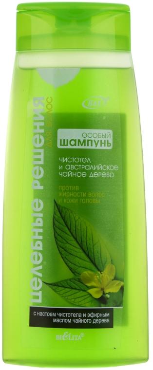 Shampoo für fettiges Haar mit Schöllkraut und australischem Teebaumöl - Bielita Celandine and Australian Tea Tree Shampoo — Bild N1