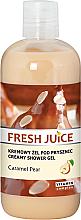 Düfte, Parfümerie und Kosmetik Creme-Duschgel mit Karamellbirne - Fresh Juice Caramel Pear Creamy Shower Gel