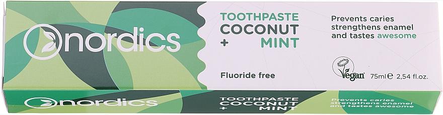 Schützende Zahnpasta mit Kokosnuss und Minze - Nordics Coconut + Mint Toothpaste