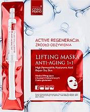 Düfte, Parfümerie und Kosmetik Anti-Aging Tuchmaske mit Lifting-Effekt + Serum - Czyste Piekno Active Regeneration + Serum