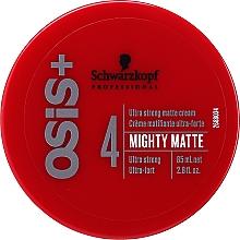 Düfte, Parfümerie und Kosmetik Mattierende Stylingcreme mit extra starkem Halt - Schwarzkopf Professional Osis+ Mighty Matte Cream