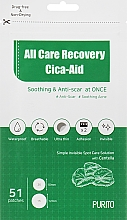 Düfte, Parfümerie und Kosmetik Beruhigende Anti-Aging Gesichtspatches mit Centella - Purito All Care Recovery Cica-Aid
