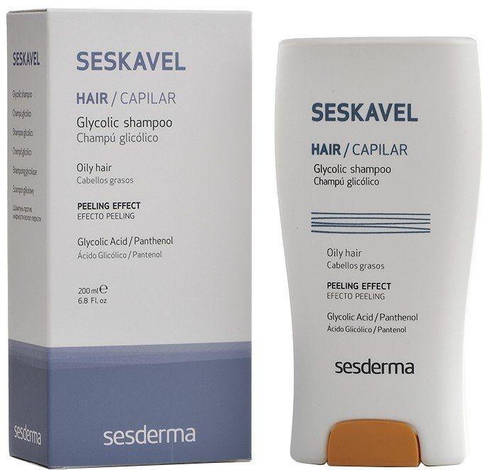 Shampoo mit Glykolsäure und Panthenol für fettige Haut - SesDerma Laboratories Seskavel Glycolic Shampoo — Bild N1