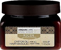 Düfte, Parfümerie und Kosmetik Haarmaske zum Haarwachstum mit Rizinusöl - Arganicare Castor Oil Hair Masque