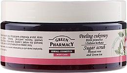 """Düfte, Parfümerie und Kosmetik Zuckerpeeling für den Körper """"Muscat Rose und Grüner Tee"""" - Green Pharmacy"""