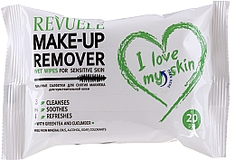 Düfte, Parfümerie und Kosmetik Feuchttücher zum Abschminken mit Grüntee und Gurke für empfindliche Haut - Revuele Make-up Remover I Love My Skin Wet Wipes For Sensitive Skin