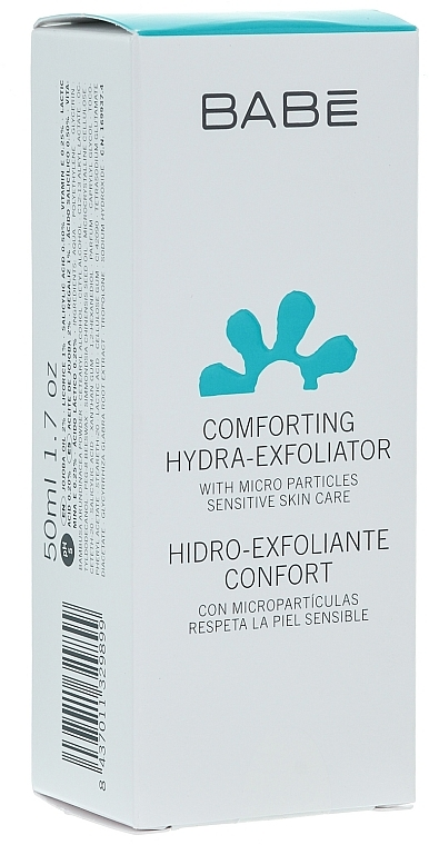 Sanftes feuchtigkeitsspendendes Gesichtspeeling - Babe Laboratorios Comforting Hydra-Exfoliator — Bild N1