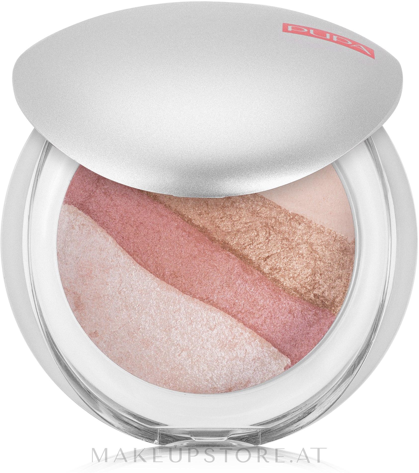 Gesichtspuder - Pupa Luminys Baked All Over — Bild 01 - Stripes Rose