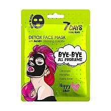 Düfte, Parfümerie und Kosmetik Reinigende Detox-Gesichtsmaske mit Säurekomplex - 7 Days Total Black Bye bye All Problems Detox Face Mask