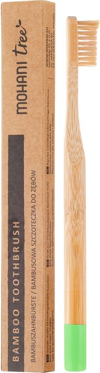 Bambuszahnbürste weich grün - Mohani Toothbrush