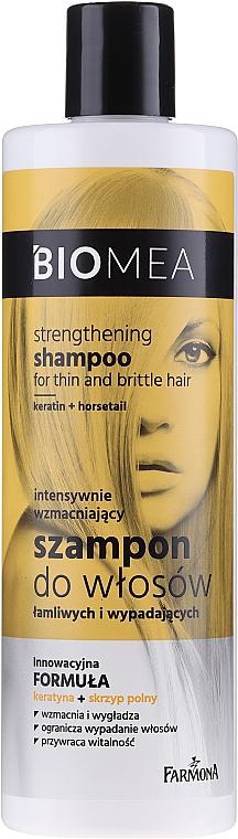 Intensiv stärkendes Shampoo für sprödes und zu Haarausfall neigendes Haar - Farmona Biomea Strengthening Shampoo