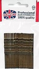 Düfte, Parfümerie und Kosmetik Haarklammern braun 60 mm 24 St. - Ronney Bronze Hair Bobby Pins