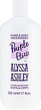 Düfte, Parfümerie und Kosmetik Feuchtigkeitsspendende Hand- und Körperlotion - Alyssa Ashley Purple Elixir