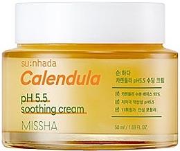Düfte, Parfümerie und Kosmetik Beruhigende Gesichtscreme mit Calendula für empfindliche Haut - Missha Su:Nhada Calendula pH 5.5 Soothing Cream