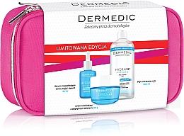 Düfte, Parfümerie und Kosmetik Gesichtspflegeset - Dermedic Hydrain 3(Serum 30ml+Creme 50ml+Mizellenwasser 500ml+Kosmetiktasche)