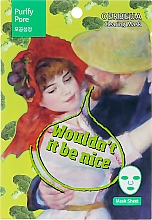 Düfte, Parfümerie und Kosmetik Reinigende Tuchmaske mit Brokkoli-Extrakt - Elfa Pharm Oerbeua Purify Pore Clearing Mask