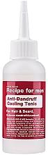 Düfte, Parfümerie und Kosmetik Tonikum gegen Schuppen für Haare und Bart - Recipe For Men Anti-Dandruff Cooling Tonic