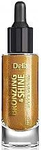 Düfte, Parfümerie und Kosmetik Bronzierendes und strahlendes Trockenöl für Gesicht, Körper und Haar - Delia Shape Bronzing & Shine