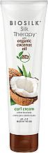 Düfte, Parfümerie und Kosmetik Haarstylingcreme für lockiges Haar mit Kokosnussöl - BioSilk Silk Therapy Organic Coconut Oil Curl Cream